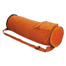 """Yoga Tasche """"Blume des Lebens"""" Baumwolle orange"""