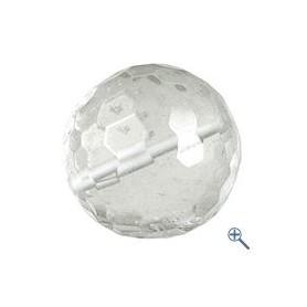 Gebohrte Kugel - Bergkristall facettiert (12,16,20mm)