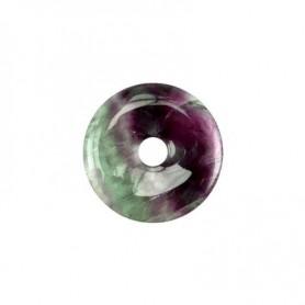 Donut rund - Fluorit ( 30 oder 40 mm)