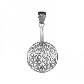 Donuthalter -Blume des Lebens- in Silber für 30 oder 40 mm Donut