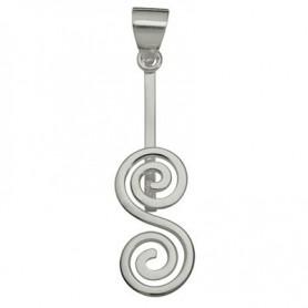 Donuthalter -Doppelspirale- in Silber für 30-40mm Donut