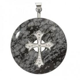 Donuthalter -Kreuz- in Silber für 30-40mm Donut