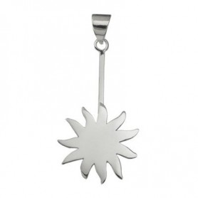 Donuthalter -Sonne- in Silber für 30-40mm Donut