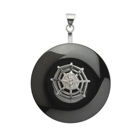 Donuthalter -Spinnennetz- in Silber für 30-40mm Donut