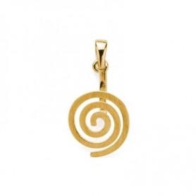 Donuthalter -Spirale- Silber vergoldet matt - für 20-50 mm Donut