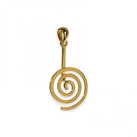 Donuthalter -Spirale- Silber vergoldet glanz - für 20-50 mm Donut