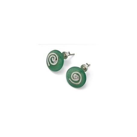 Ohrhänger Spirale Silber vergoldet glanz für 15 mm MiniDonut
