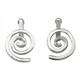 Ohrstecker Spirale Silber glanz für 15 mm MiniDonut