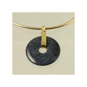 Scharnier-Clip -Silber vergoldet, für 30,40 oder 50 mm Donut
