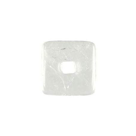 Donut quadratisch -Bergkristall- - 30 oder 40 mm