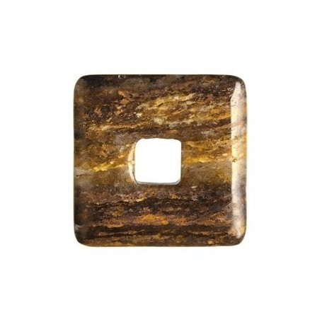 Donut quadratisch -Bronzit- - 40 mm