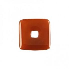 Donut quadratisch -Carneol (gebrannt)- - 30 oder 40 mm