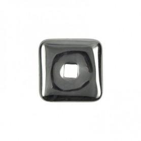 Donut quadratisch -Hämatit- - 30 oder 40 mm