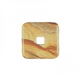 Donut quadratisch -Landschafts-Jaspis- - 30 oder 40 mm