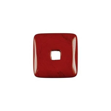 Donut quadratisch -Jaspis (rot)- - 30 oder 40 mm