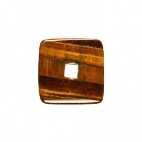 Donut quadratisch -Tigerauge- - 30 oder 40 mm