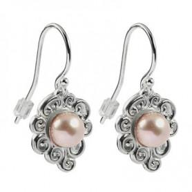 Ohrhänger Perle rose