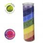 Chakra Regenbogen Stearin Kerze - ohne Duft