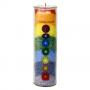 Chakra Regenbogen Stearin Kerze - mit  Duft