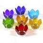 Teelichthalter Chakra -Lotus Set klein 8cm- in Silber