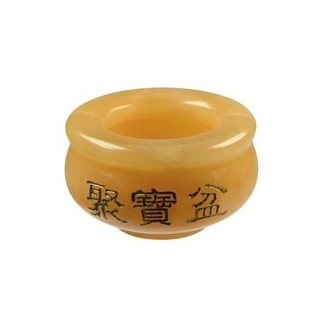 Edelstein Teelichthalter -Chinese Money Bowl- Calcit versch. Größen