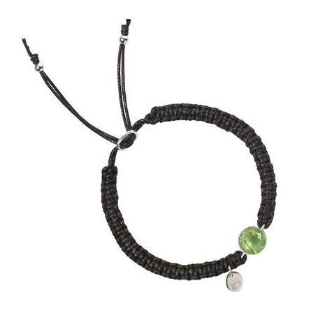 Armband -Makramee- Prehnit rund facettiert