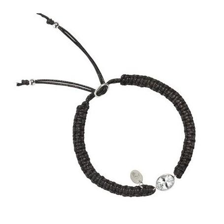 Armband -Makramee- Topas weiß oval facettiert