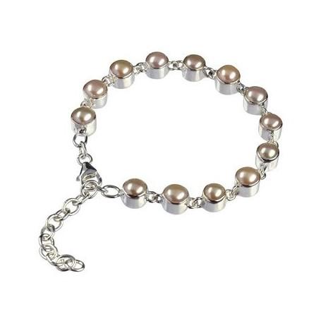 Armband -SWZ Perle lachs-