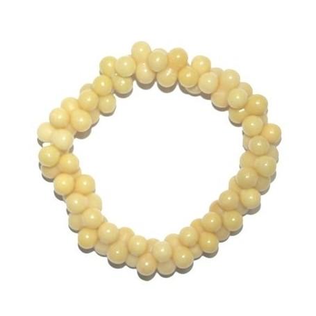 Armband -YingYang- Serpentin gelb