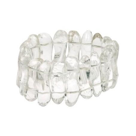 Armband -Welle- Bergkristall