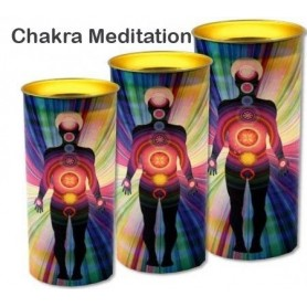 Kerze Dosenform - Chakra Meditationskerze