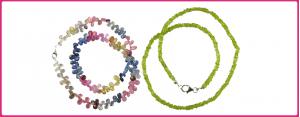 Halsketten & Colliers - mit Steinen, Änhänger usw.